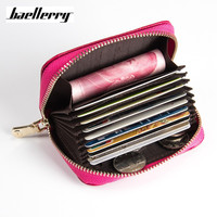 Baellerry Brand Hot Sale Genuine Leather Unisex Card Holder Wallets Female Credit Card Holders Women Pillow