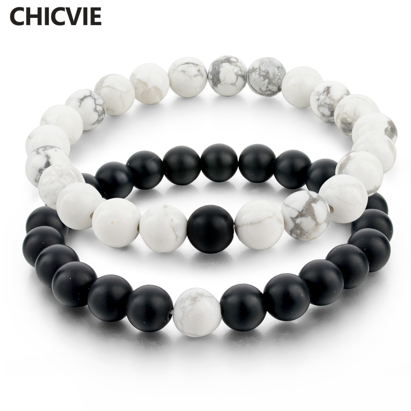 buy chicvie black and white natural stone