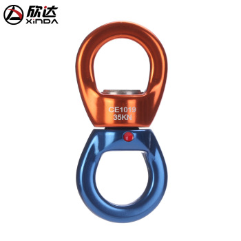 Xinda 35KN Rock Climbing Kit Rotational Rope Swivel Connector Mountaineering Buckleg Rock Climbing Rope For Climbing xinda 12 meter outdoor static rope climbing rope rappelling rope high altitude climbing rope safety equipment 9 10mm rope