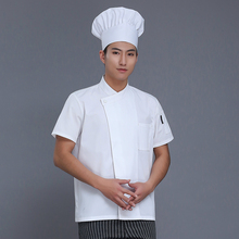 Chef Uniform  Summer Short-sleeve pocket Breathable Restaurant Food Service Chef Jacket Kitchen