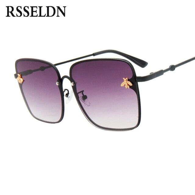 ad6dfcd8ef1f0 RSSELDN Quadrado Grande Quadro óculos de Sol Das Mulheres Designer De Marca  Gradiente Óculos de Sol