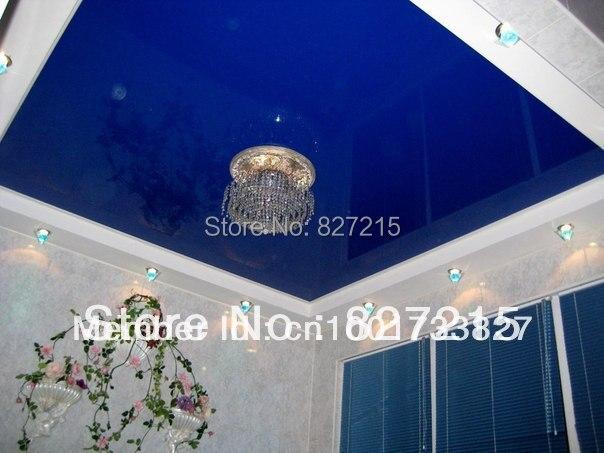 Fantastisch Blau Glänzend Decke Film Probe Mit Kronleuchter/Kristall Beleuchtung/wand  Papier Für Schlafzimmer Dekoration