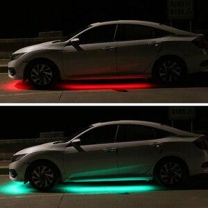 Image 5 - 12V LED podwozie samochodu elastyczny pasek światła Auto RGB Underglow dekoracyjne lampy atmosfera samochody Underbody System akcesoria oświetleniowe