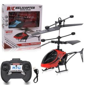 Image 4 - Mini RC pilot indukcyjny na podczerwień RC zabawka 2CH Gyro helikopter RC zdalnie sterowany dron helikopter niebieski zielony Model a612