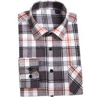 Men Plaid Shirts 2017 New Autumn Luxury Slim Brand Formal Business Fashion Dress Men S Casual