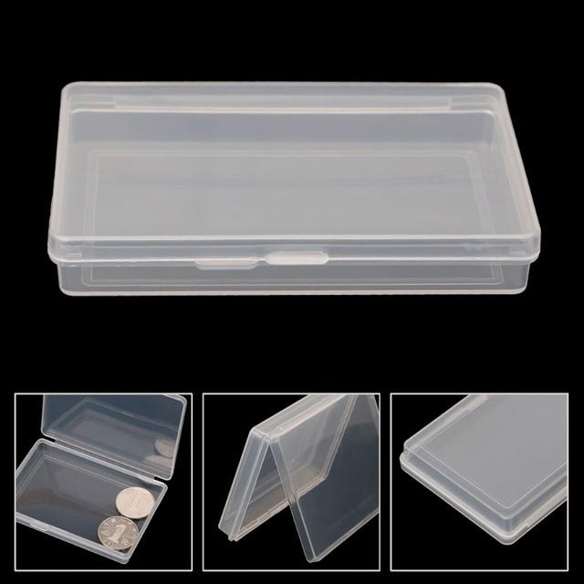 Portable Bank Cards ID Case Holder Mini Storage Box Clear Square Organizer  Container Caixa Organizadora Plastic