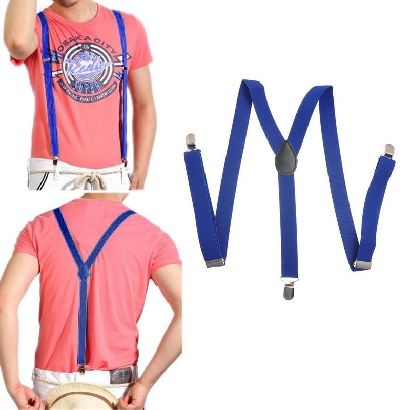 15 Tipi Di Uomo Donna Clip-on Bretelle Elastiche Y-forma Bretelle Regolabili Bretelle Di Colore Solido Di Colore Della Caramella Abiti Di Moda Collocazione Acquista Ora