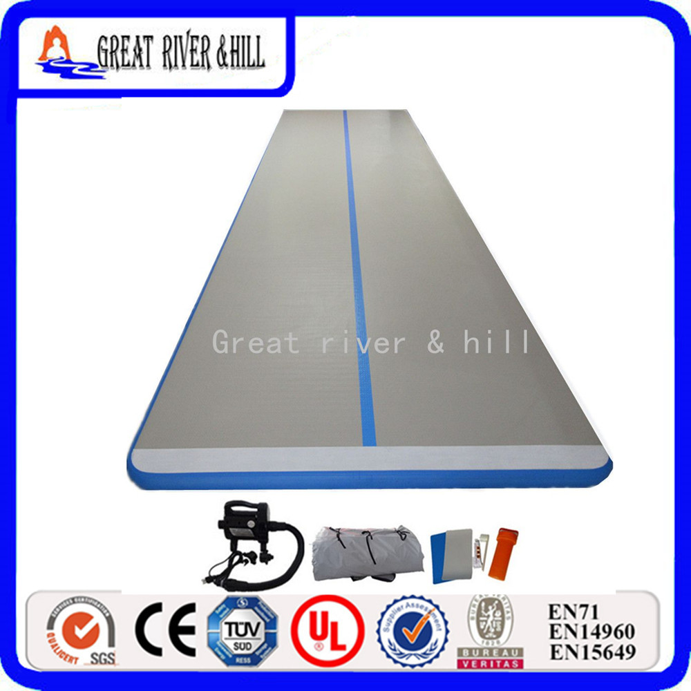 tumbling mats gymnastics 5m x1m x10cm air floor inflatable gymnastics mats for home with free