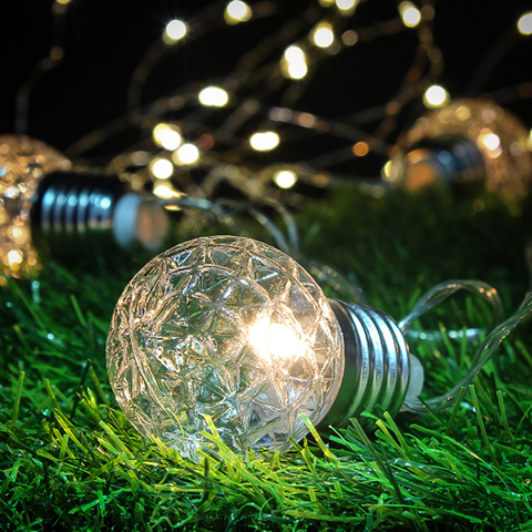 corda ao ar livre a prova dwaterproof agua energia lampada solar