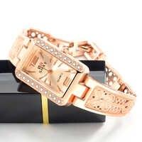 2019 frauen Uhren Rose Gold Armband Damen Uhr Frauen Luxus Strass Handgelenk Uhren Uhr Frauen Geschenk bajan kol saati