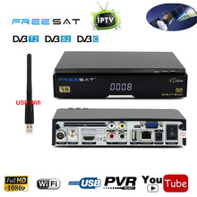 Free sat V8 Golden Satellite Receiver Support DVB-S2 DVB-T2 DVB-C Cable IPTV TV Tuner Combo AC3 Auido CS IKS Cccam SAT To IP(China)
