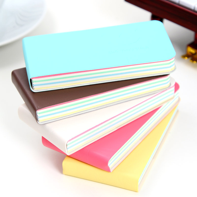 Cute Mini Smile Notebook Soft Pu Cover Planner Bullet Journal Diary Book Inside Colorful Papers Memo Pad Office School Supplies