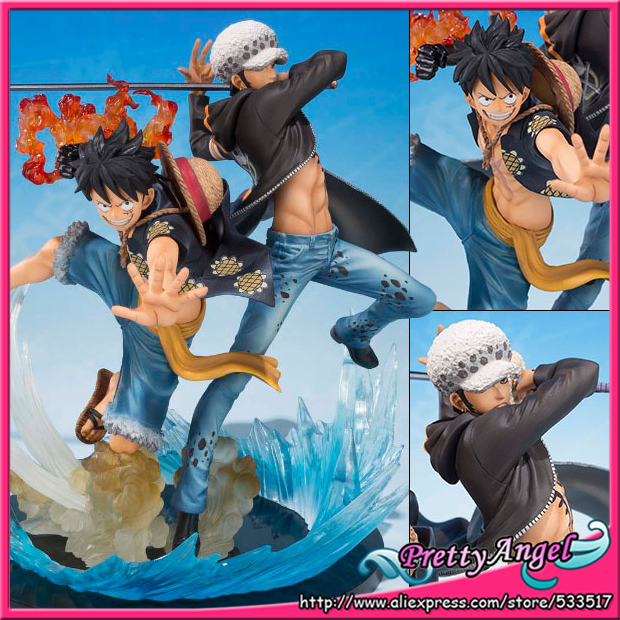 Japanese Anime Original Bandai Figuarts ZERO One Piece 5th Anniversary Edition Monkey D. Luffy & Trafalgar Law Action Figure bandai f zero one piece bandai set 2 years after the ice fire fist 5 anniversary edition piece