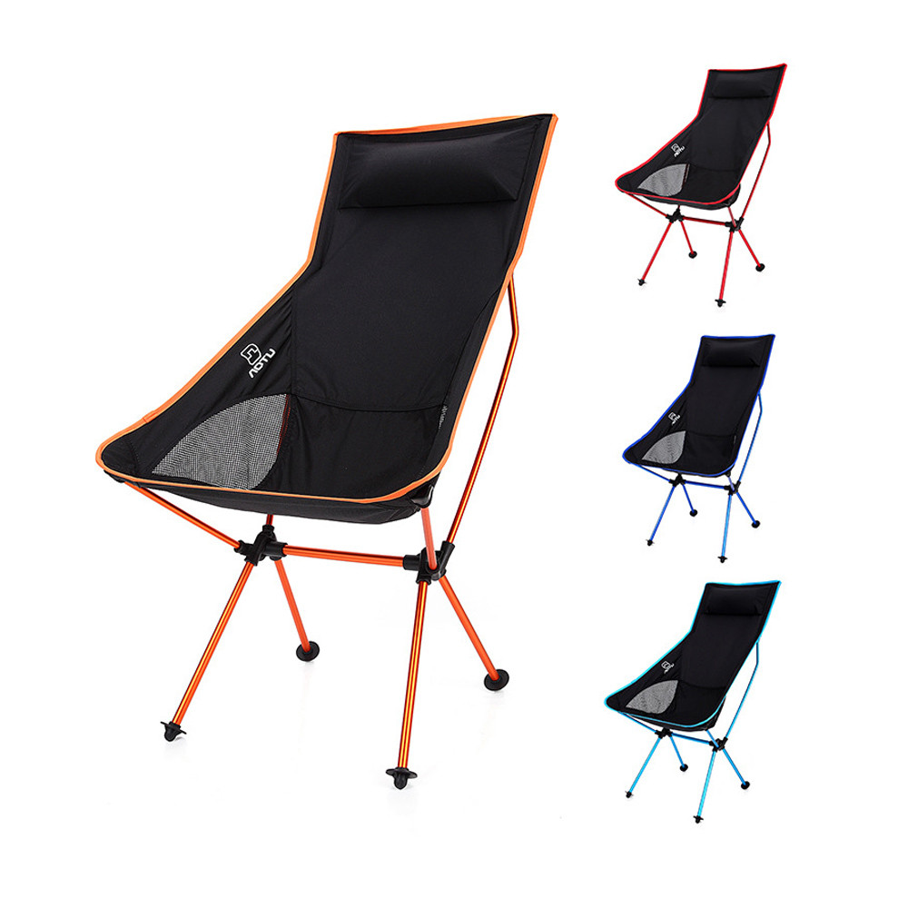High quality Portable Folding Chair pillows lengthen Moon chair backrest Comfortable Outdoor Camping Fishing Hiking 45*58*99CM camping tool hiking recreation light weight portable folding chair outdoor chair for camping fishing hiking