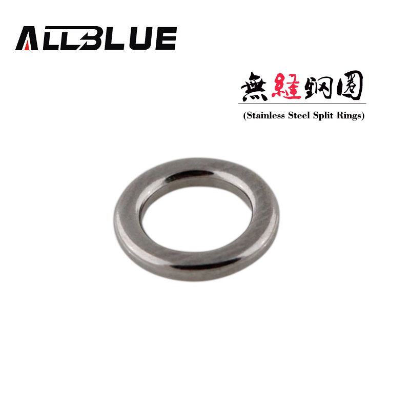 ALLBLUE Fishing Solid Ring 304 Stainless Steel Fishing Ring Lure Accessories Heavy-duty Metal Jigging Ring
