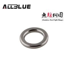 Split Ring Anello in acciaio inox Solid Fishing Lure Collegamento Tackle Accessori 4x6.5mm 50PCS