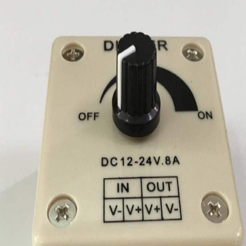 rotating way manual dimmer led 24v 12v 8A free shipping