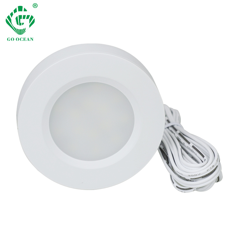Sous meuble lumières 12V LED cuisine placard éclairage lampes étagère vitrine ronde Puck lumière bibliothèque comptoir meubles lampe