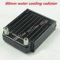 80mm água de refrigeração do radiador para computador Chip CPU GPU VGA RAM cooler de resfriamento A Laser De Alumínio Trocador De Calor