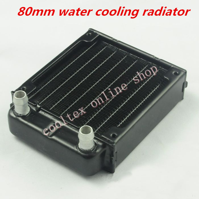 80mm water cooling radiator for computer Chip CPU GPU VGA RAM  Laser cooling cooler  Aluminum Heat Exchanger 240mm water cooling radiator g1 4 18 tubes aluminum computer water cooling heat sink for cpu led heatsink heat exchanger
