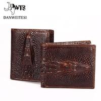 DWTS Crocodile Skin Wallet Crocodile Clutch Purse Hidden Pocket Wallet Leather Men Wallet Billeteras Masculinas
