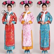 Китайский костюм династии Цин, костюм принцессы с головным убором, 5 цветов, китайское Старинное платье, розничная