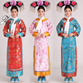 Chinese Qing Dynasty Costume New Princess Costume With Headwear 5 color Chinese Ancient Dress Retail Free Shipping