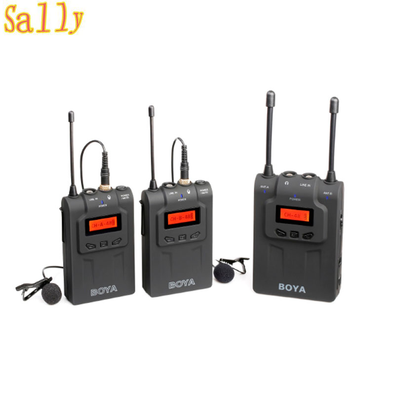 BOYA BY-WM8 UHF Wireless Lavalier Microphone System for ENG EFP DSLR Cameras with 48 Channels 6 Hours Running Time for Interview oom control for eng lenses