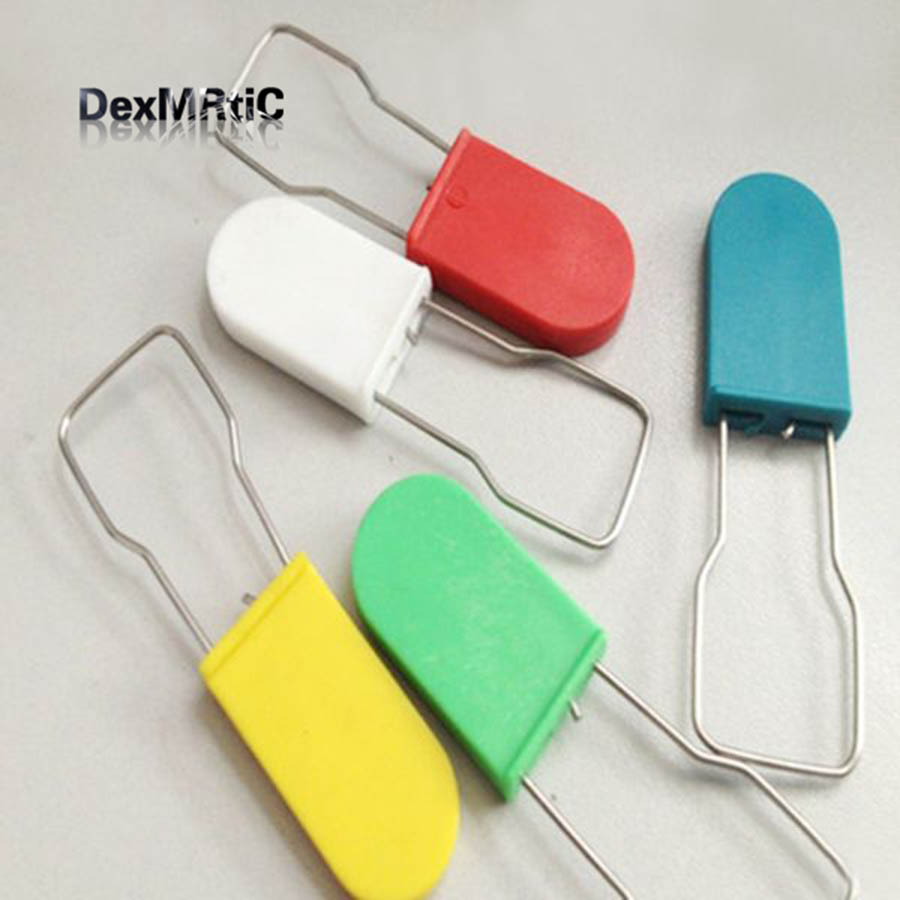 30pcs Can be printed LOGO Cable seals disposable padlock Logistics Plastic Seals Disposable lock NEW
