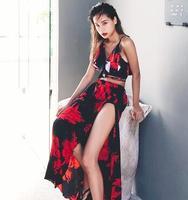 2018 69 17 Color Summer Newest Color Handmade Crochet Bikini Bandeau Bow Halter Swimwear Women Floral