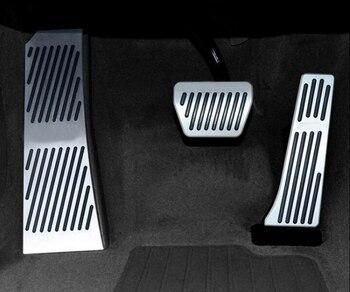 Für BMW Neue 5 6 7 serie GT Touring X3 X4 Aluminium aluminiumlegierung Gas Kraftstoff Brems Fußstütze Pedal Platte Pad AT Car Zubehör mit logo