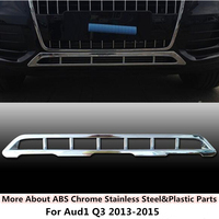 High Quality For Q3 2013 2015 Car Body Styling Cover Protection Detector ABS Trim Front Bottom