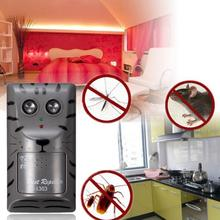 DC 8-9V 500mA Garden Accs Electronic Ultrasonic Pest Control Repeller Rat Mosquito Mouse Insect Rodent EU/US Plug