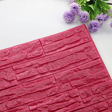 Dropshipping DIY 3D Brick PE Foam Wallpaper Panels Room Decal Stone Decoration Embossed(China)