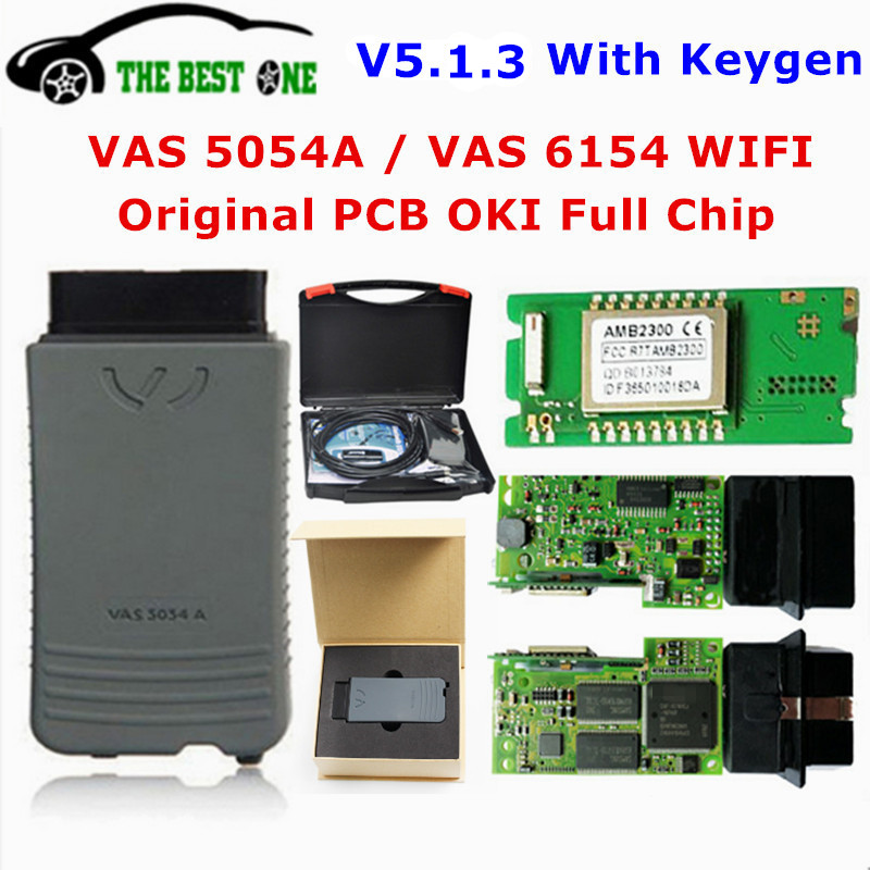Original OKI VAS 5054A ODIS V5.1.3 Keygen Bluetooth AMB2300 VAS 6154 WIFI VAS5054A Full Chip VAS5054 UDS For VAG Diagnostic Tool(China)