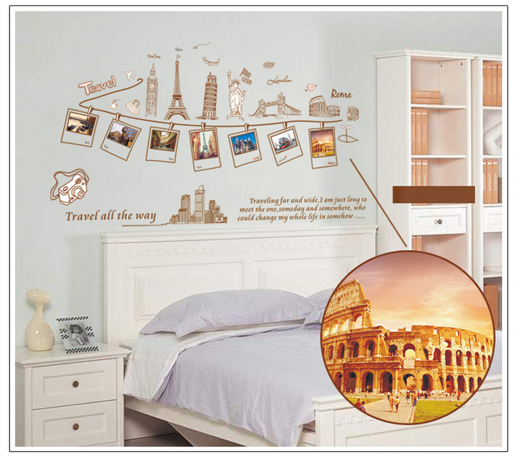 Wall Stickers Travel Around The World Decoration Wall Hangings Stickers  Wall Stickers Home Decor Stickers Wall Poster 60*90CM In Wall Stickers From  Home ...