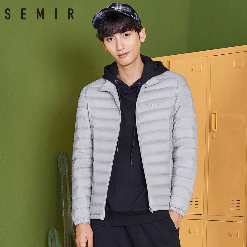 SEMIR Lightweight Down Jacket Men Winter New Short Handsome Male Jacket Slim Youth Light Comfortable Warm Outwear Coats For Men