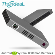 ThundeaL T16 Projektor DLP 280ANSI Android 5.1 WiFi Bluetooth Baterie Handheld Hra Video Miracast Mini projektor Airplay Mini LED