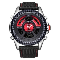 Fashion sports multi function men's waterproof electronic watch couple flow watch
