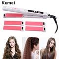 3 в 1 ролик для завивки волос + выпрямитель для волос выпрямляющий плоский утюжок + керамический утюжок для завивки волос гофрированные волни...