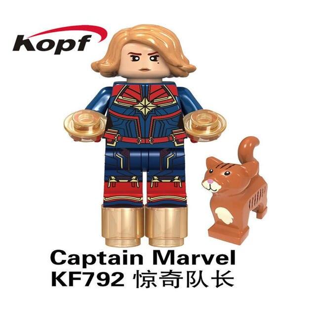 Building Blocks Movie 4 Endgame Captain Plastic Figure Thor Tony Stark War Machine Action Toys For Children KF792Model Building
