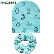Cotton Baby Hats for Boys Beautiful Stars Baby Hats for Girls Autumn Winter Children Hat Scarf Collar Baby Cap Infant Hat set цена в Москве и Питере