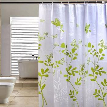 Zasłona prysznicowa nowoczesna wodoodporna peva zasłona prysznicowa zielony motyl zasłona prysznicowa walking dead łazienka zasłona prysznicowa tanie i dobre opinie shower curtain Nowoczesne Ekologiczne Scenic