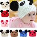 Прекрасное Животное Панда Ребенок Трикотажные Шапки Дети Зимой Согреться Вязаные Шапочки Крышки