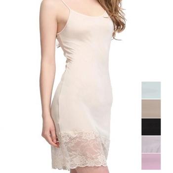 50 jedwab 50 dzianina wiskozowa elastyczne koronki pełna Slip bielizna nocna koszulka regulowany pasek SG323 tanie i dobre opinie WOMEN Poślizgnięcia SILK Pełne zrazy