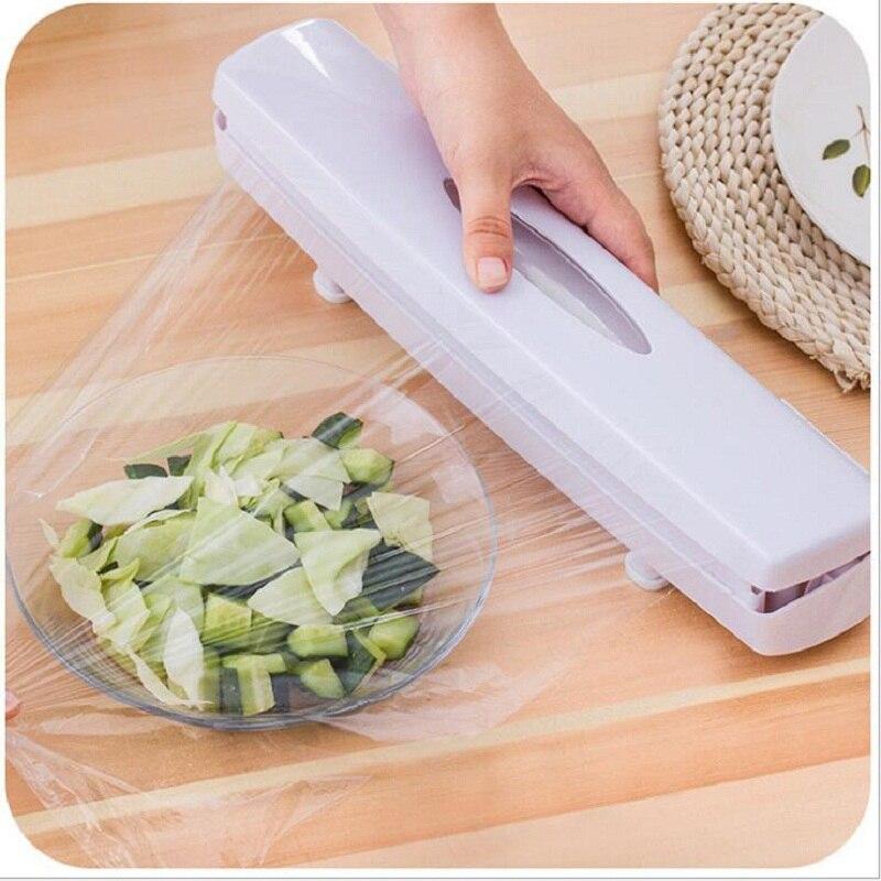 1 stück Kunststoff Wrap Cutter Konservierungs Film Lebensmittel Vakuum Cutter Für Folie Oder Klammern Wrap Küche Zubehör