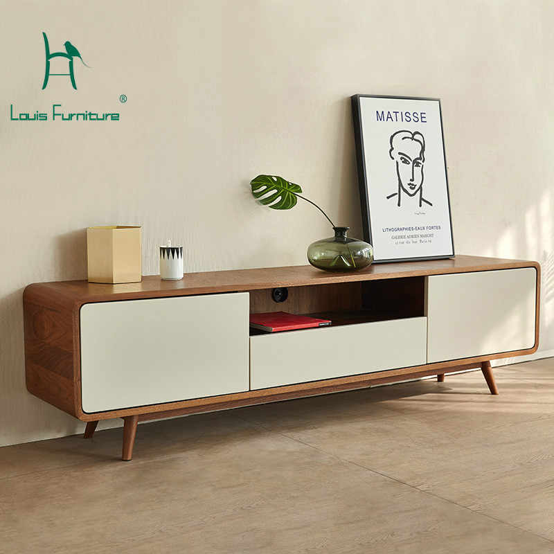 Louis Fashion Modern Style Small Family Living Room TV Cabinet