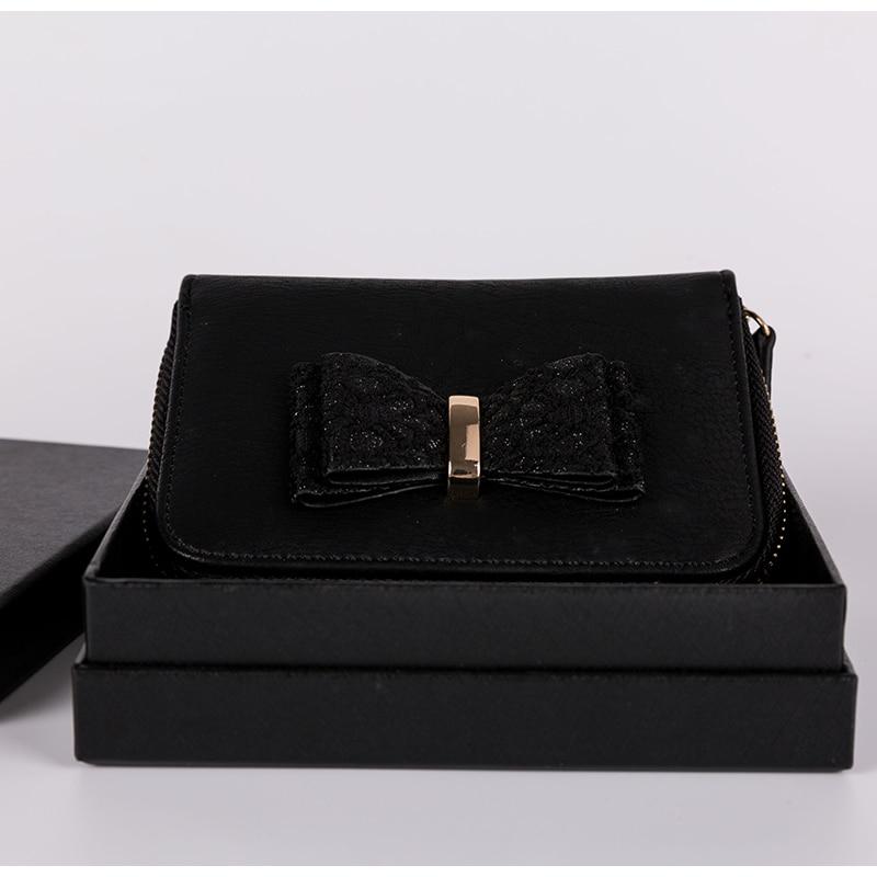 Yicana kort stil Pu Läder Kvinnor plånbok vintage populära svart - Plånböcker - Foto 2