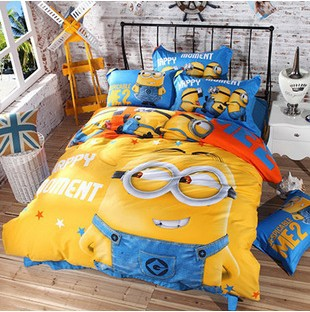 Minions Bedding Sets Minion Bed Sofa Duvet Cover Linen For Kids Set Twin Queen King Full Size 100 Cotton On Aliexpress Alibaba