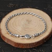 silver 925 bracelet for men bracelet couple handmade boyfriend gift hand chain women bracelets 20cm